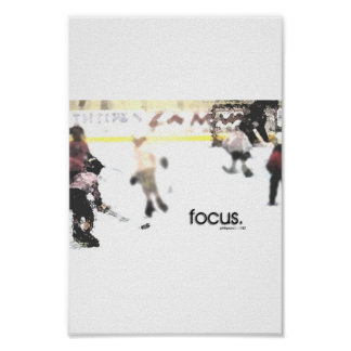 focus.  (youth hockey) poster