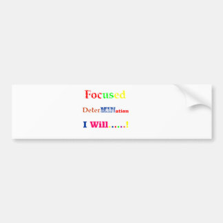 Focused Determination Rainbow Bumper Sticker