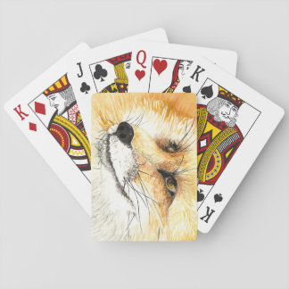 Focused Fox Playing Cards