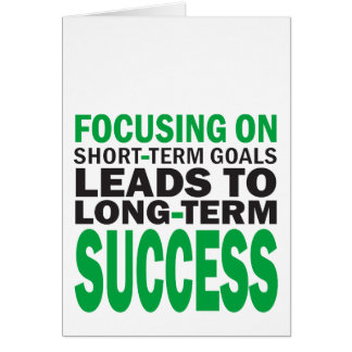 Focusing on Success Card