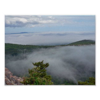 Fog around Great Head, Acadia NP, Maine Poster