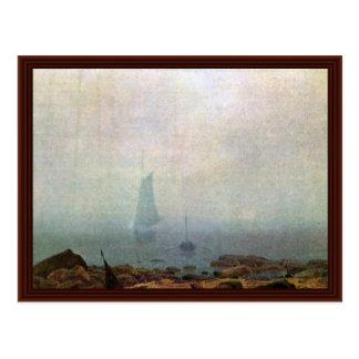 Fog By Friedrich Caspar David Postcard