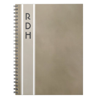 Fog Grey Monogram Notebook