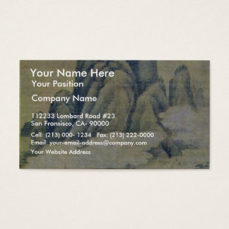 Fog In Forested Mountains By Kao K'O-Kung (Best Qu Business Card