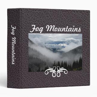 Fog Mountains Industrial Brown Faul Leather|Custom Binders