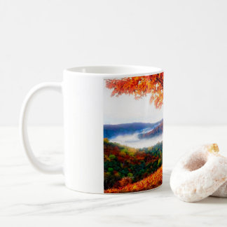 Fog Moves Into The Valley Coffee Mug