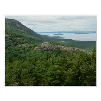 Fog off Acadia National Park, Maine Poster