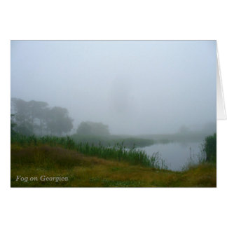 Fog on Georgica notecard