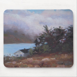 Fog Over the Crystal Springs Boathouse Mouse Pad