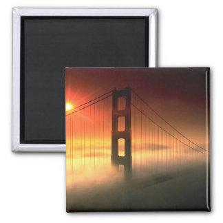 Fog Shrouded Golden Gate Magnet