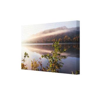 "Fog Striped Reflection 13x8  .75"" Canvas Print"