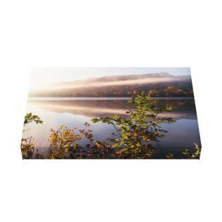 "Fog Striped Reflection 14x8.25  1.5"" Canvas Print"