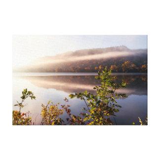 "Fog Striped Reflection 18x12  .75"" Canvas Print"
