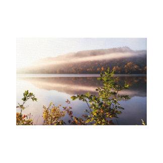 "Fog Striped Reflection 20x13  1.5"" Canvas Print"