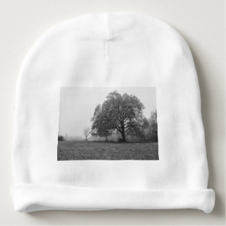 Foggy Autumn Morning Grayscale Baby Beanie