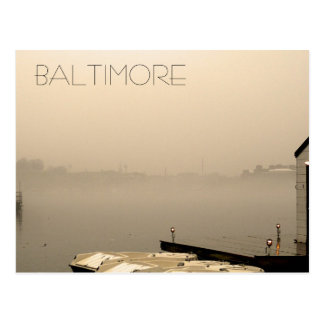 Foggy Baltimore Postcard