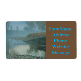 Foggy Bitterroot River Morning Design Shipping Label