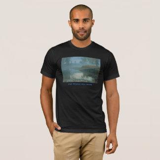 Foggy Bitterroot River Morning Design T-Shirt