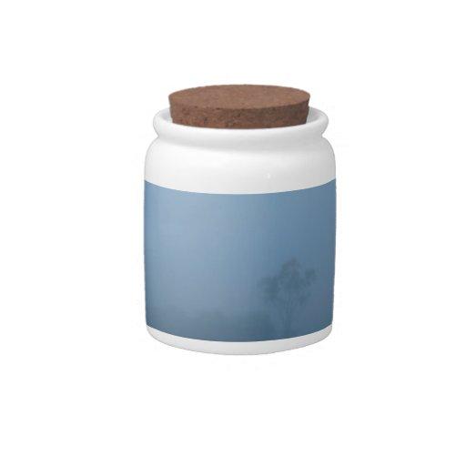 Foggy Blue Candy Jar