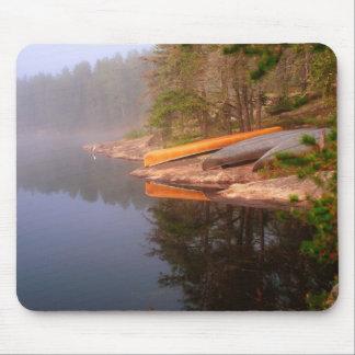 Foggy Canoe Campsite, Lake Kawnipi, Mouse Pad