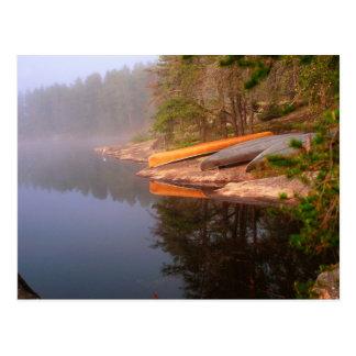 Foggy Canoe Campsite, Lake Kawnipi, Postcard