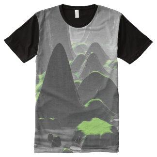 Foggy Canyon Walls All-Over-Print T-Shirt