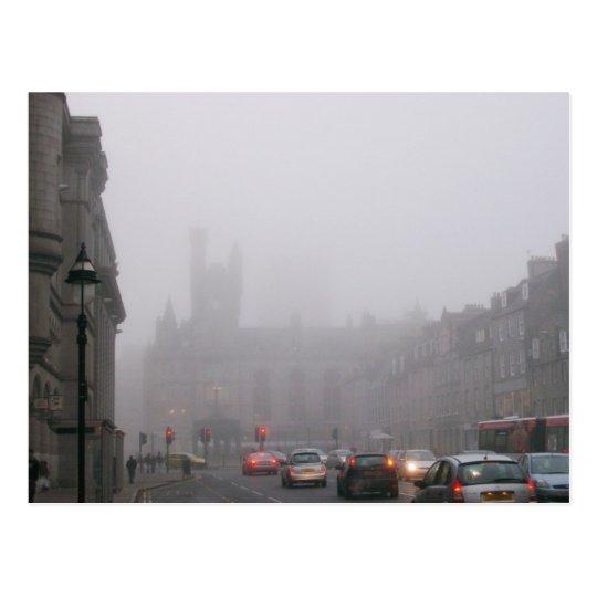 Foggy City Centre Postcard