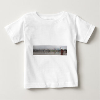 Foggy Day along Portland OR Waterfront Panorama Baby T-Shirt