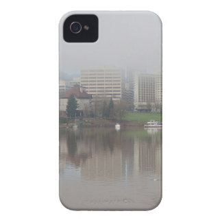 Foggy Day along Portland OR Waterfront Panorama iPhone 4 Covers