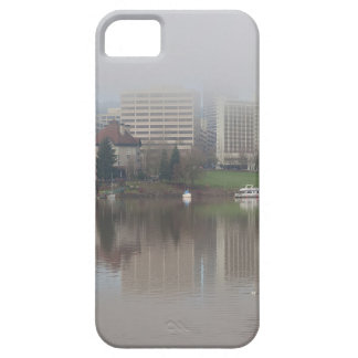 Foggy Day along Portland OR Waterfront Panorama iPhone 5 Cases