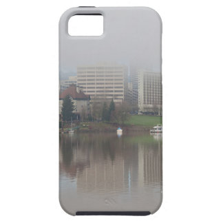 Foggy Day along Portland OR Waterfront Panorama iPhone 5 Cover