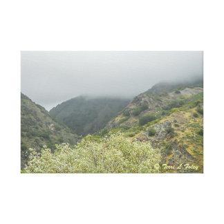 Foggy Day - Coastal Hwy 1 California Canvas Print