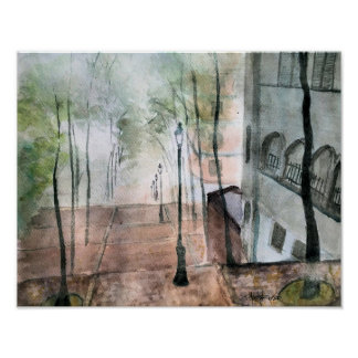 """""""Foggy Day in Paris"""" Poster"""