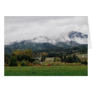 Foggy day in Woodland Card