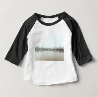 Foggy Day on Portland OR Downtown Waterfront Baby T-Shirt
