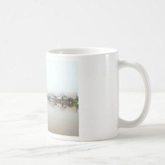 Foggy Day on Portland OR Downtown Waterfront Coffee Mug