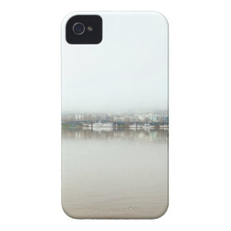 Foggy Day on Portland OR Downtown Waterfront iPhone 4 Cases