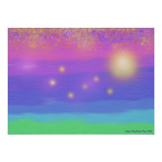 Foggy Dream of a Seacoast Sunset Poster