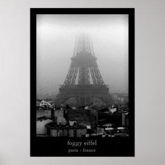foggy eiffel poster