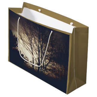Foggy Fall Evening  Large Gift Bag