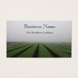 foggy field business card