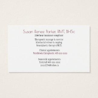 Foggy geometric bridge business card