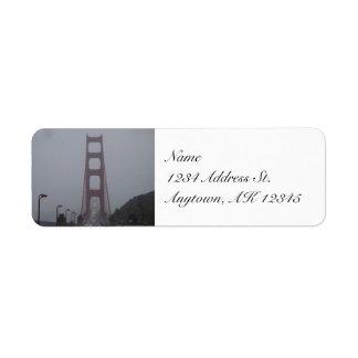 Foggy Golden Gate Bridge return address labels
