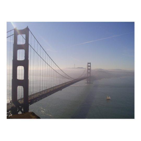 Foggy Golden Gate Postcard