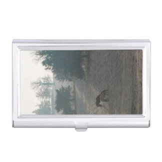 Foggy Grazing Business Card Holder