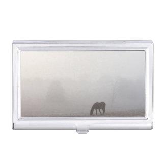 Foggy Grazing Business Card Holder