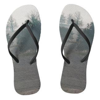 Foggy Grazing Flip Flops