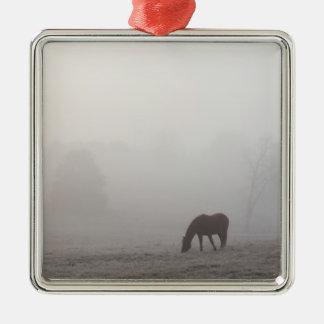 Foggy Grazing Metal Ornament