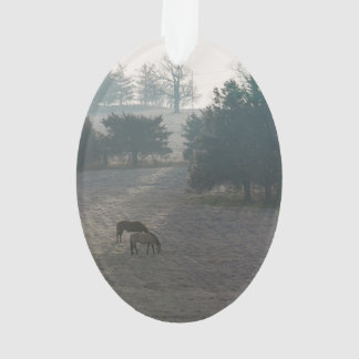 Foggy Grazing Ornament