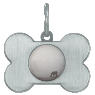 Foggy Grazing Pet Name Tag